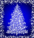 Christmas star tree on blue background Royalty Free Stock Photos