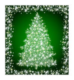 Christmas star tree on green background Stock Photography
