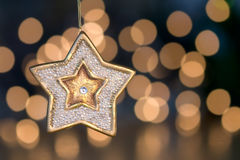Christmas star tree ornament Stock Photo
