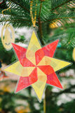 Christmas star from used plastic Stock Photography