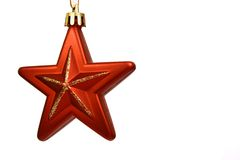 Christmas star on a white back Stock Image