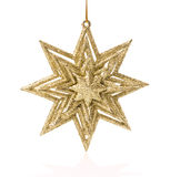 Christmas star on white background Royalty Free Stock Photography