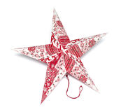 Christmas star. On a white background Royalty Free Stock Image