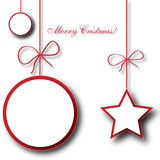 Christmas star on white background Royalty Free Stock Images