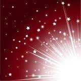 Christmas starburst background Stock Image