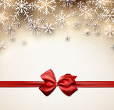 Christmas starry background with ribbon. Royalty Free Stock Photo