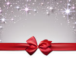 Christmas starry background with ribbon. Royalty Free Stock Photography