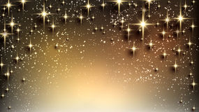 Christmas starry background with sparkles. Royalty Free Stock Image