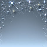 Christmas starry background with sparkles. Royalty Free Stock Photography