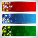Christmas starry banners Royalty Free Stock Image