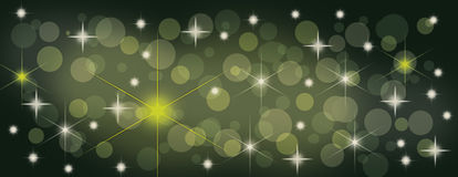 Christmas starry panorama banner for cover photo background Stock Photos