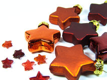 Christmas stars 1. Orange and red tree stars Stock Image