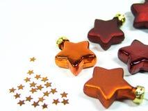 Christmas stars 2. Orange + red tree stars Stock Photography