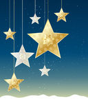 Christmas stars Stock Photo