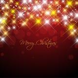 Christmas stars. Decorative Christmas background with shiny star design Stock Photo