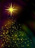 Christmas stars. Forming a christmas tree vector illustration