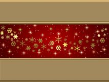 Christmas stars. A Christmas background with stars for a card in red & golden colors Stock Images