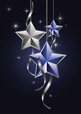 Christmas stars royalty free illustration