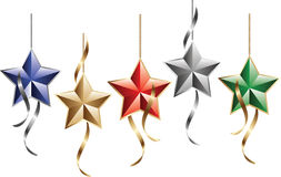 Christmas stars stock illustration