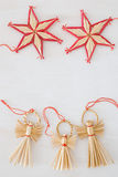 Christmas stars and angels Stock Photos