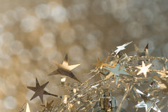 Christmas stars background Stock Images