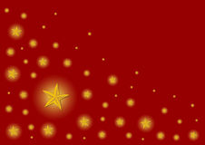 Christmas stars background. Christmas pattern made with stars over red gradient background Stock Images