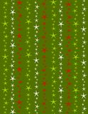 Christmas Stars Background. A background pattern featuring colorful red, green and white stars Stock Photography