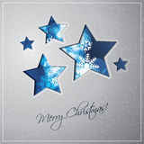 Christmas Stars Background Stock Image