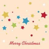 Christmas stars. Christmas background with stars - Merry Christmas Royalty Free Stock Image