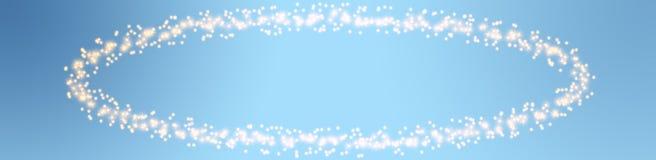 Christmas stars on blue background Stock Photos