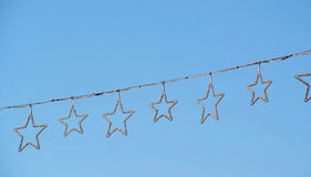 Christmas stars with blue sky Royalty Free Stock Photos