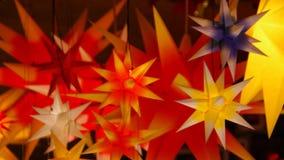 Christmas stars stock footage