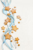 Christmas stars cookies with powder sugar Stock Images