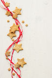 Christmas stars cookies with powder sugar Stock Photography