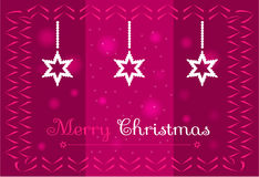 Christmas stars on a dark pink background Stock Photography
