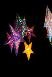 Christmas stars decoration on black background Stock Photography