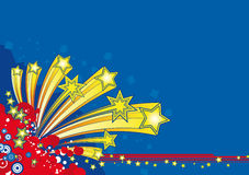 Christmas Stars explosion Stock Photos