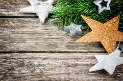 Christmas stars in festive setting Royalty Free Stock Image