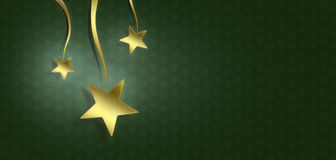 Christmas stars on green background Stock Images