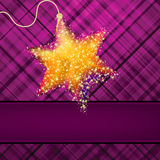 Christmas stars on green background. EPS 8 Royalty Free Stock Image
