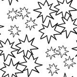 Christmas stars hand draw monochrome seamless pattern Royalty Free Stock Images