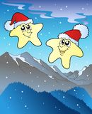 Christmas stars with hats Stock Photos