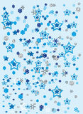 Christmas stars icons Royalty Free Stock Photos