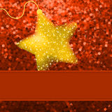Christmas stars on orange background. EPS 8 Stock Photography