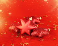 Christmas stars ornaments Stock Image