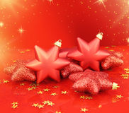 Christmas stars ornaments Stock Photo