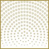 Christmas stars pattern, Center of radiation symmetry Royalty Free Stock Images
