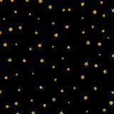 Christmas stars pattern with gold texture Stock Image