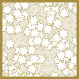 Christmas stars pattern with seamless continuous texture Royalty Free Stock Photos
