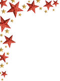 Christmas stars ply - isolated stars Royalty Free Stock Photography